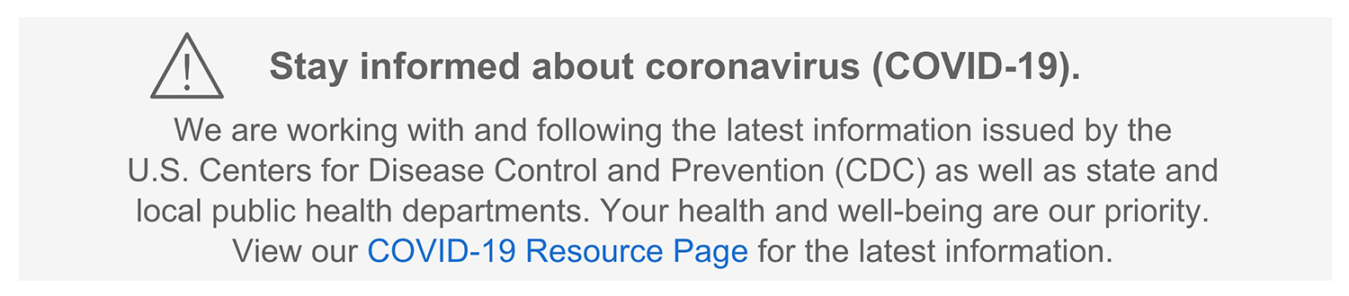 Stay informed about coronavirus (COVID-19)